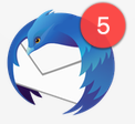 5 email in thunderbird