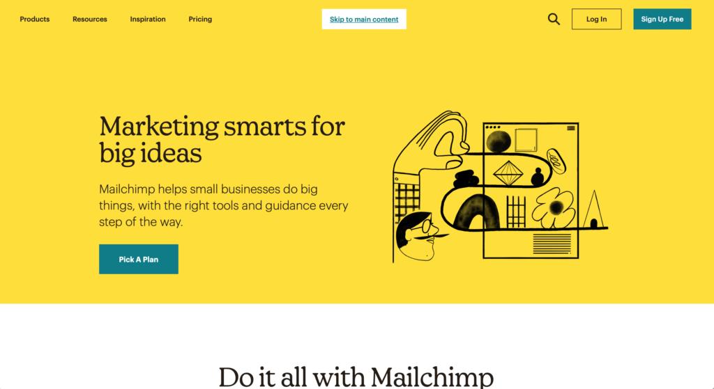 mailchimp mailing list manager